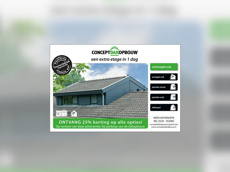 Concept Dakopbouw, advertentie