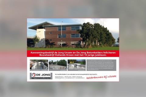 Aannemingsbedrijf De Jong Ursem, Advertentie