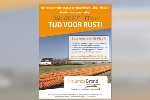 Hollands Grond, advertentie