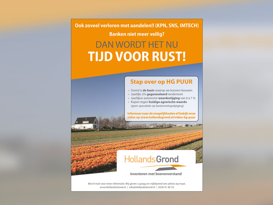 Hollands Grond, advertentie