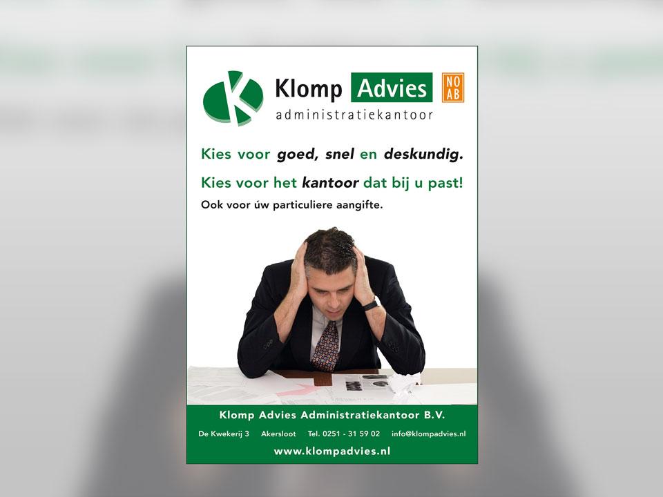 Klomp Advies, advertentie