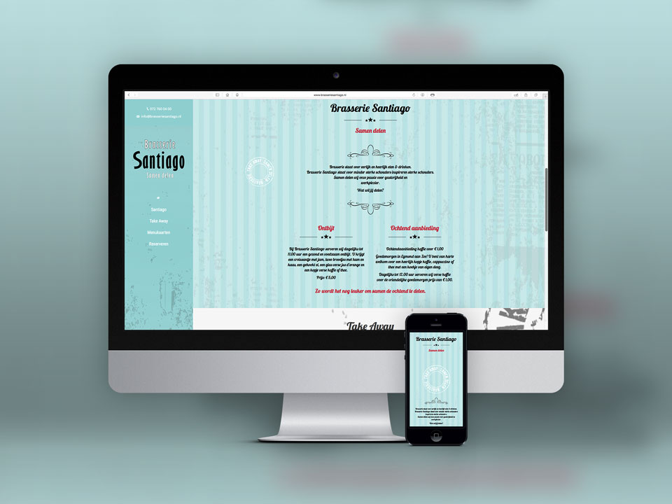 Brasserie Santiago, website