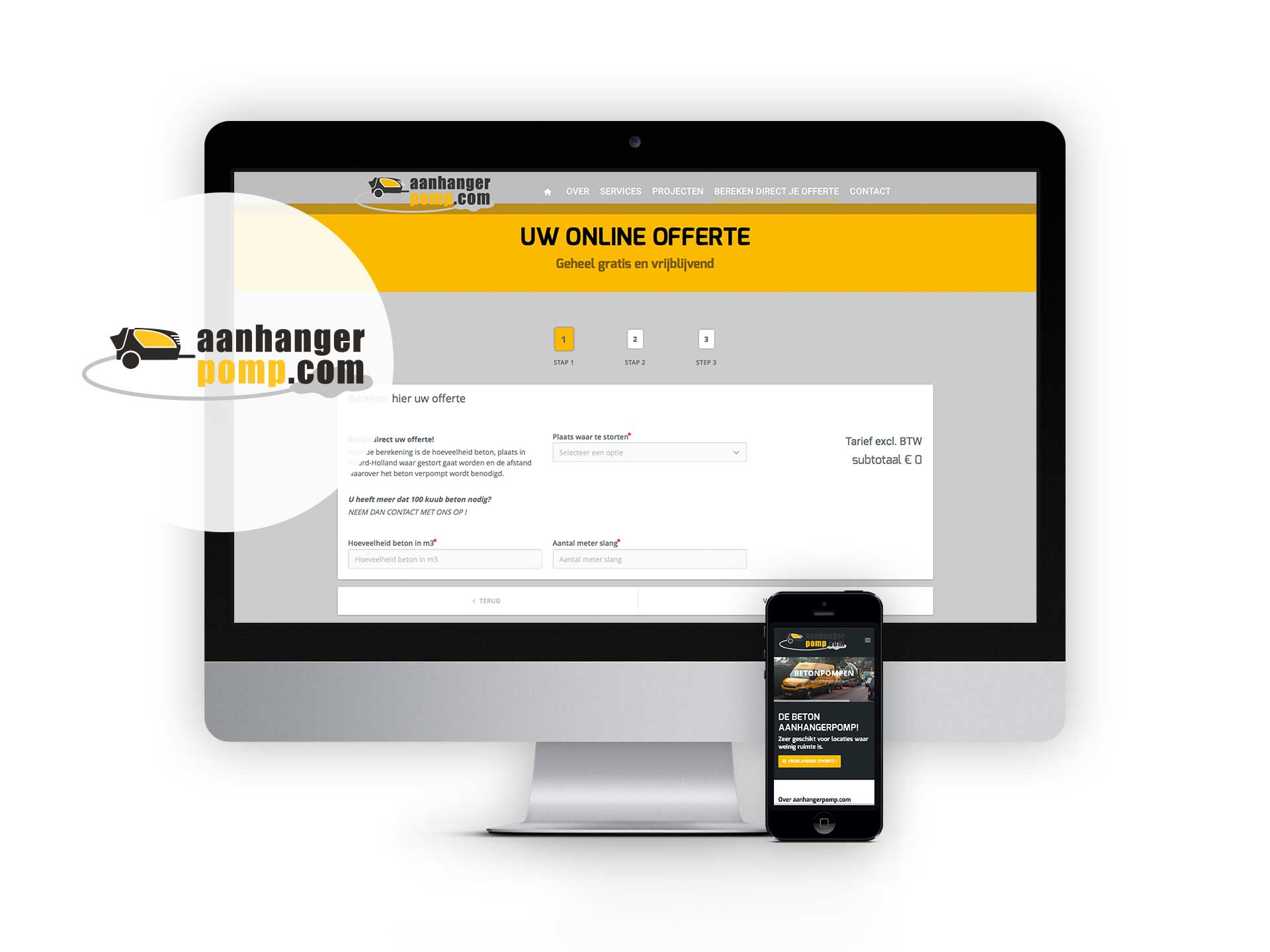 Aanhangerpomp.com, website