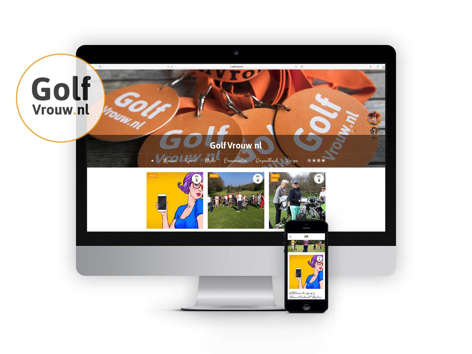 GolfVrouw, website live