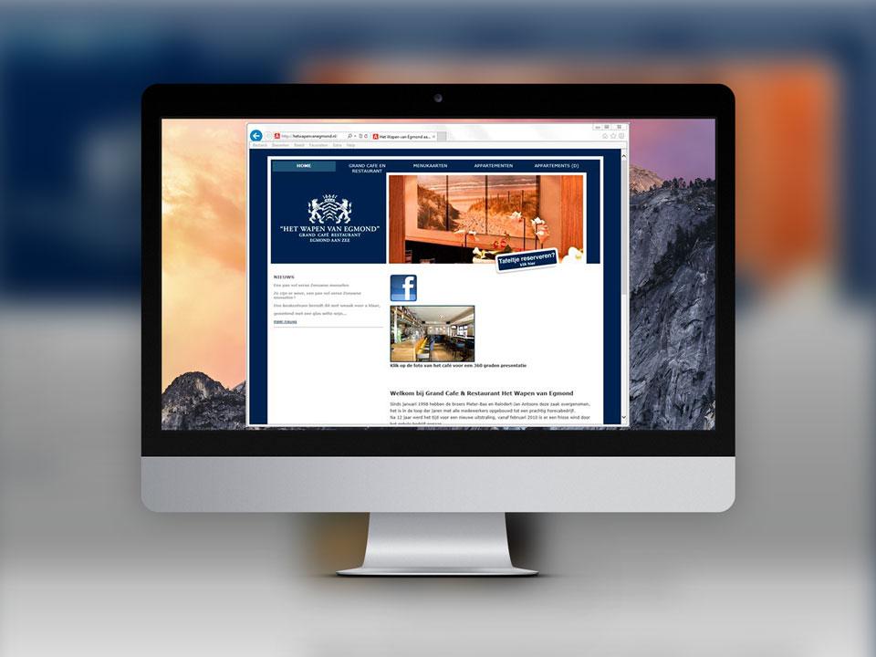 Het Wapen van Egmond, website