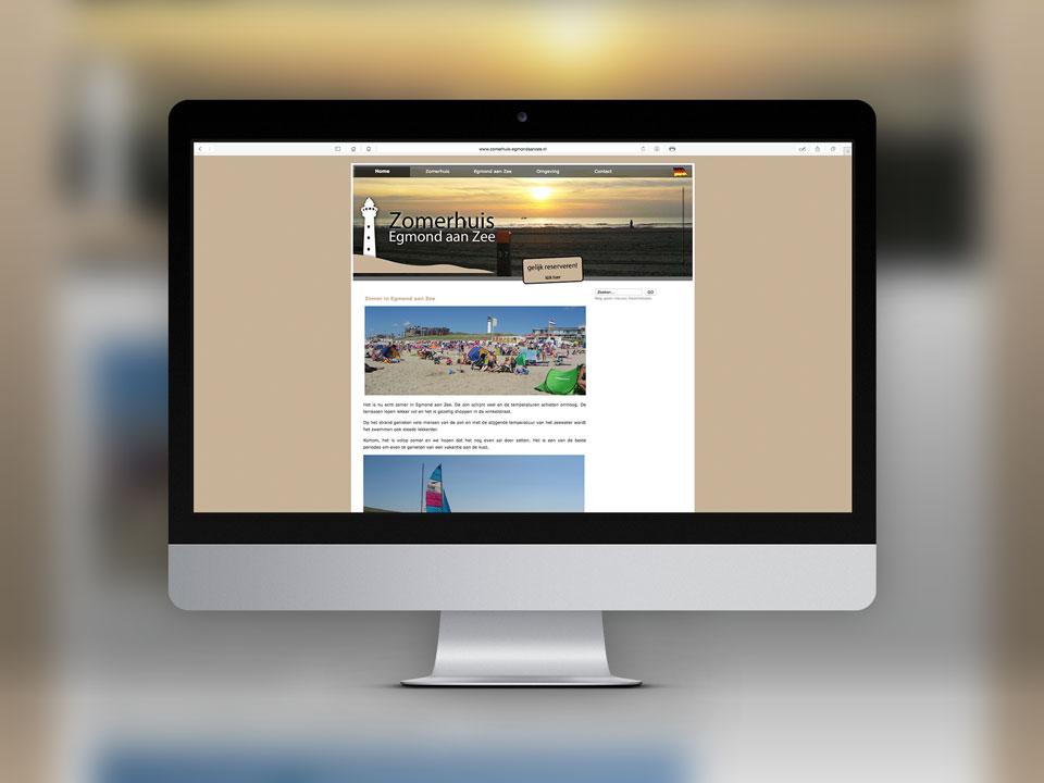 Zomerhuis Egmond aan Zee, website