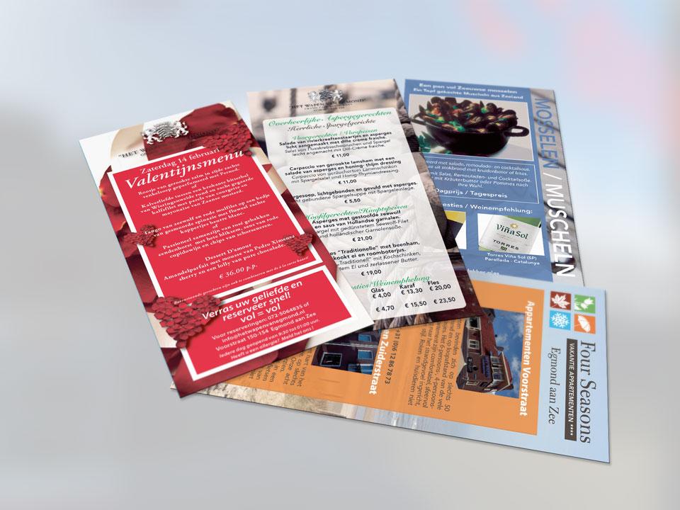 het Wapen van Egmond, flyers