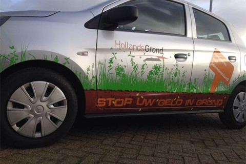 Hollands Grond, Autobelettering