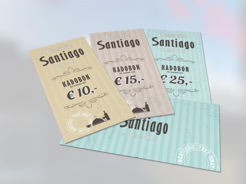 Brasserie Santiago, kadobonnen & envenlop