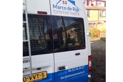 Marco de Rijk, Autobelettering