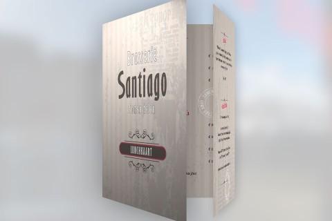 Brasserie Santiago, menukaart
