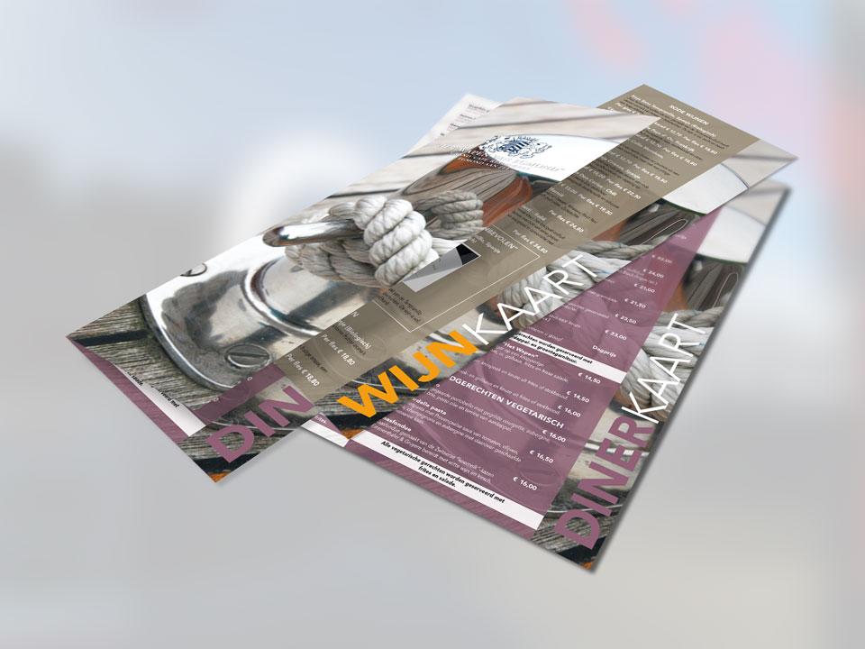 Het Wapen van Egmond, menukaarten