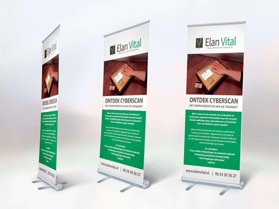 Elan Vital, roll-up banner