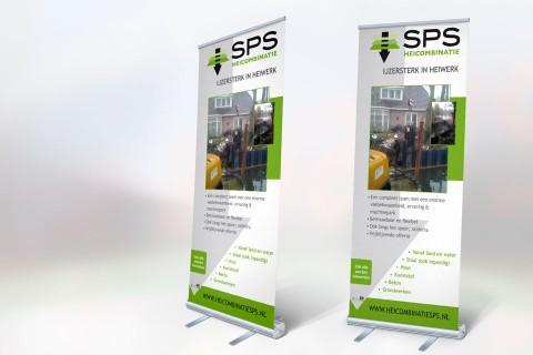SPS Heicombinatie, roll-up banner