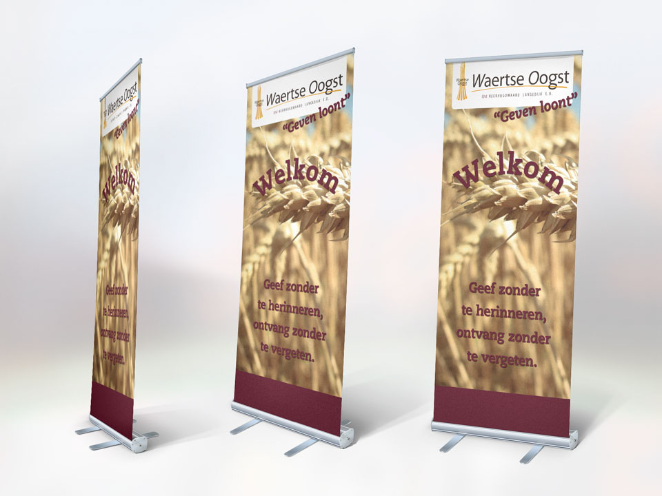 BNI Waertse Oogst, roll-up banner