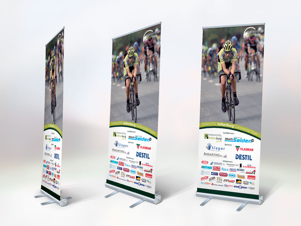 Wielervereniging Noord-Hollandl, roll-up banner