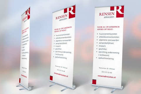 Rensen advocaten, roll-up banner