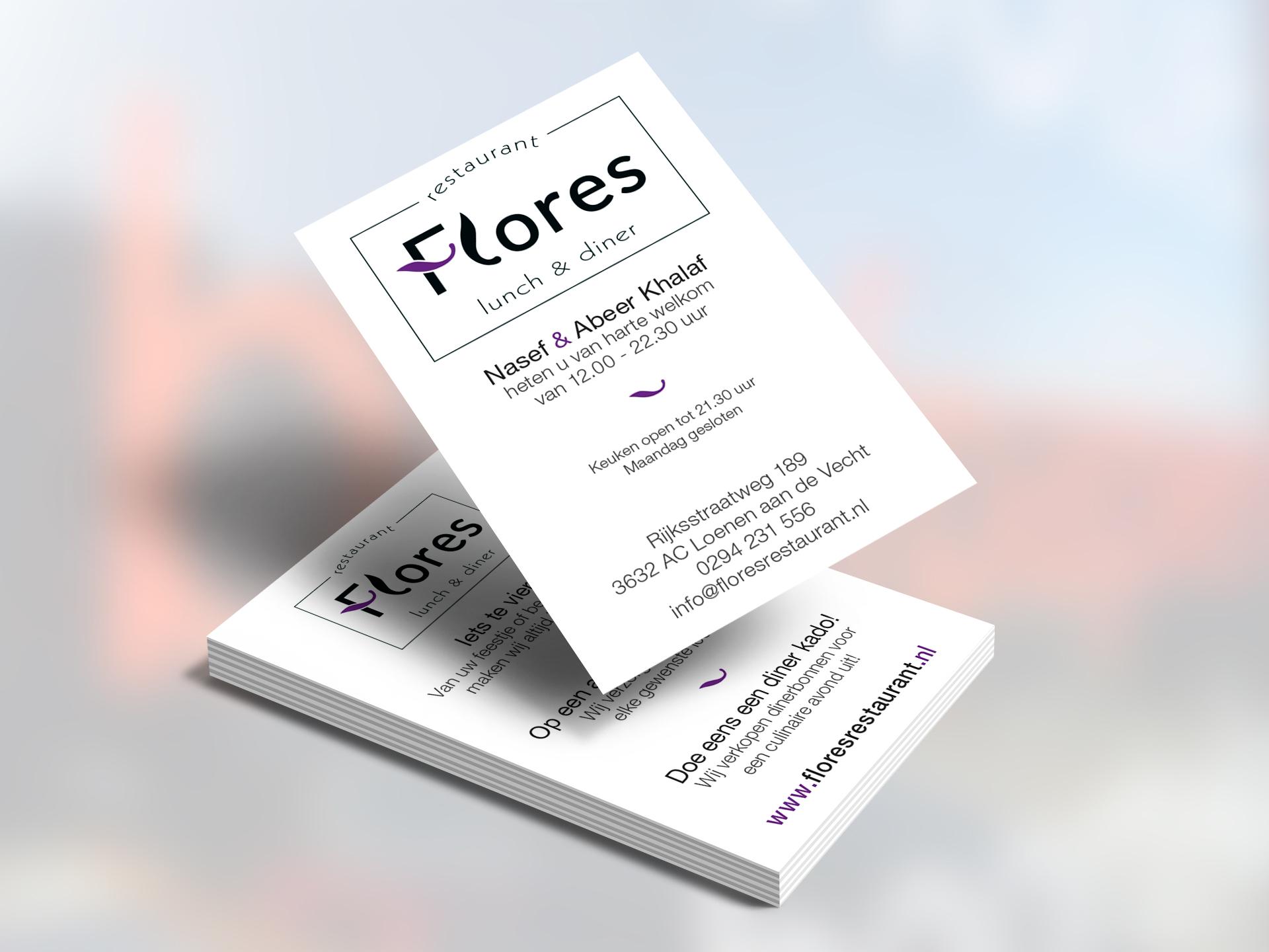 Flores, Visitekaartje