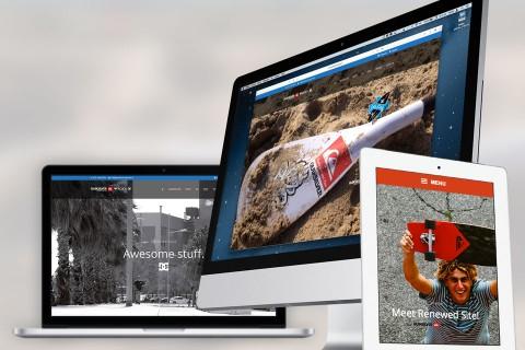 Quiksilver store, website