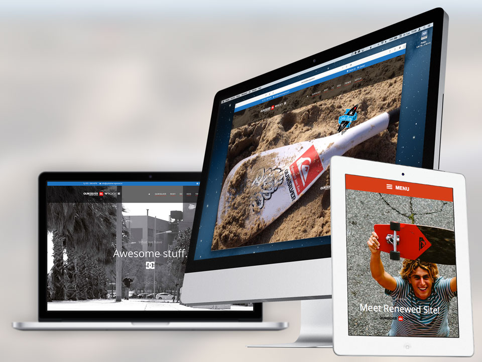 Quiksilver store, website
