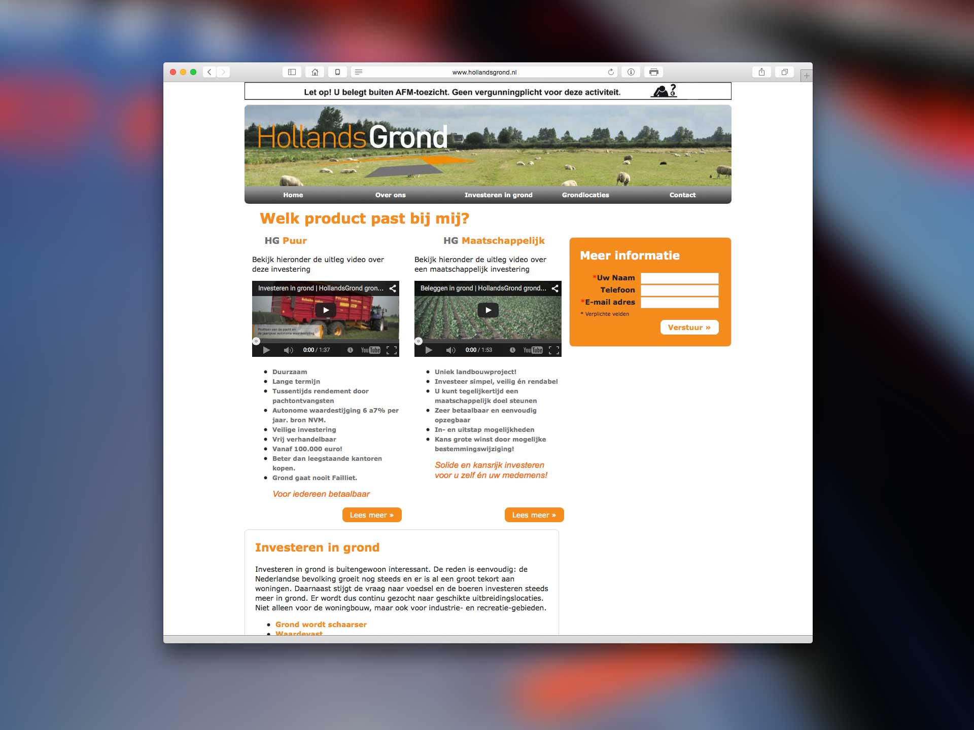 Website holland grond buro van amstel for Buro website